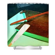 Wooden Dingy Shower Curtain