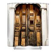 Wooden Door 1 Shower Curtain