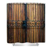 Wooden Door 2 Shower Curtain