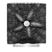 Wooden Fan Shower Curtain