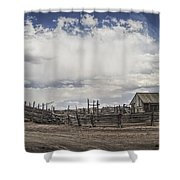 Wooden Fenced Corral Out West Shower Curtain