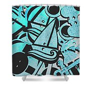 Wooden Harbour Shower Curtain