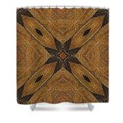 Wooden Maltese Cross Fresco Shower Curtain
