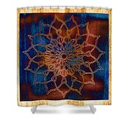 Wooden Mandala Shower Curtain