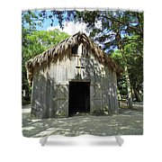 Wooden Mission Of Nombre De Dios Shower Curtain