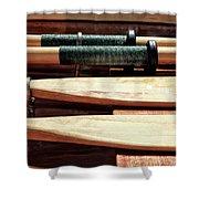 Wooden Oar Pattern Shower Curtain