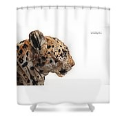 Wooden Panther Shower Curtain