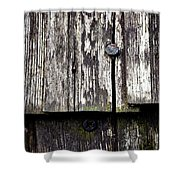 Wooden Plate With  Nails Shower Curtain