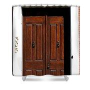 Wooden Portal Shower Curtain