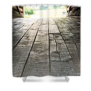 Wooden Road Shower Curtain
