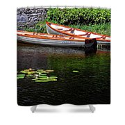 Wooden Rowboats Shower Curtain