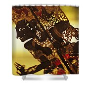 Wooden Shadow Puppets Shower Curtain