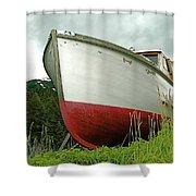 Wooden Ship Shower Curtain