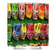 Wooden Shoes From Amsterdam Shower Curtain