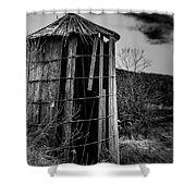 Wooden Silo Shower Curtain