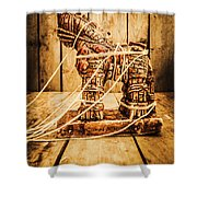 Wooden Trojan Horse Shower Curtain