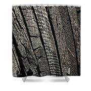 Wooden Water Wheel Shower Curtain