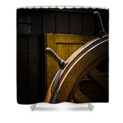 Wooden Wheel Shower Curtain