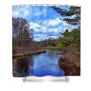 Woodhull Creek Shower Curtain