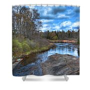 Woodhull Creek In May Shower Curtain