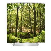 Woodland Bubble Shower Curtain