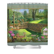 Woodland Garden In A Small Town Shower Curtain