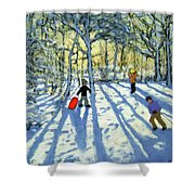 Woodland In Winter Shower Curtain