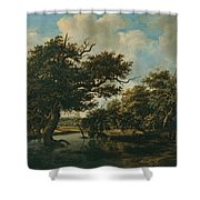 Woodland Pond Shower Curtain