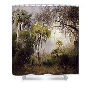 Woodland With Deer Shower Curtain