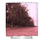 Woodlands At The Beach Shower Curtain
