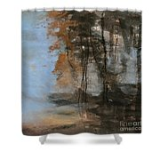 Woodlands At The Lake Shower Curtain