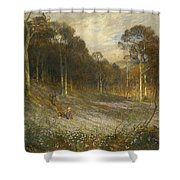 Woodlands Gay With Lady Smocks Shower Curtain