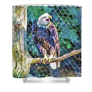 Woodlands Nature Station Shower Curtain