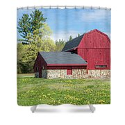 Woodmont Red Shower Curtain