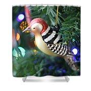 Woodpecker Ornament Shower Curtain