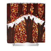 Woods In Autumn Shower Curtain