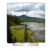 Wood's Lake Summer Landscape Shower Curtain