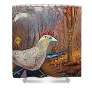 Woods Road 2 - Autumn Shower Curtain