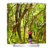 Woods Walk Shower Curtain