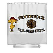 Woodstock Fire Dept Shower Curtain