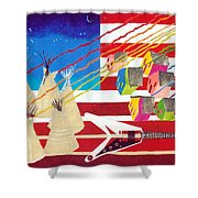 Woodstock Nation Shower Curtain