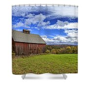 Woodstock Vermont Old Red Barn In Autunm Shower Curtain