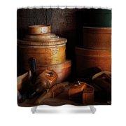Woodworker - Shaker Box Shop  Shower Curtain