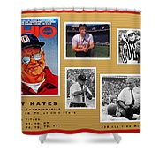 Woody Hayes Legen Five Panel Shower Curtain