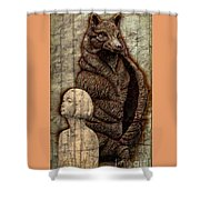 Woof And The Girl Shower Curtain