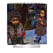 Woogie And Thumbalina Shower Curtain