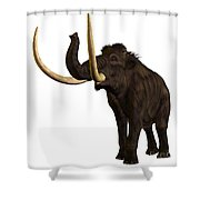 Woolly Mammoth Profile Shower Curtain