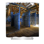 Woolshed Blues Shower Curtain