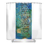Word Shower Curtain