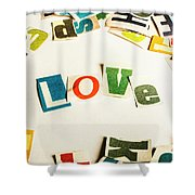 Word Of Love Shower Curtain